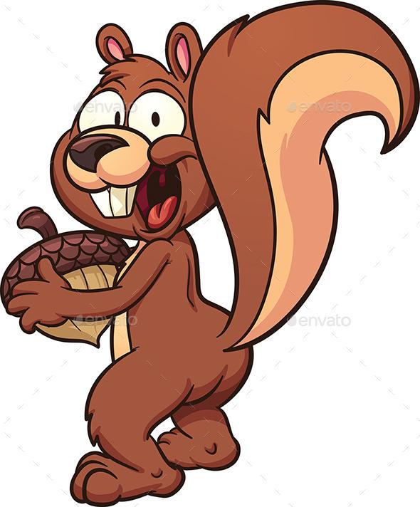 Cartoon Squirrel - Animals Characters