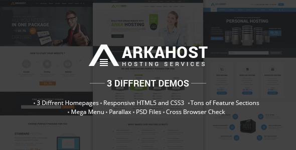Arka Host – Responsive Hosting Template