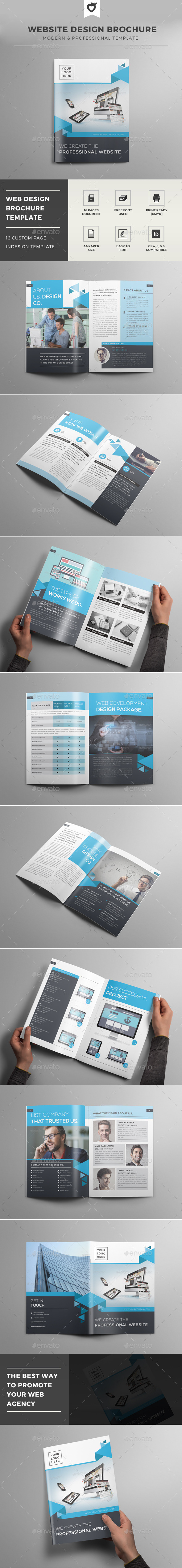 Website Design Brochure Template - Informational Brochures