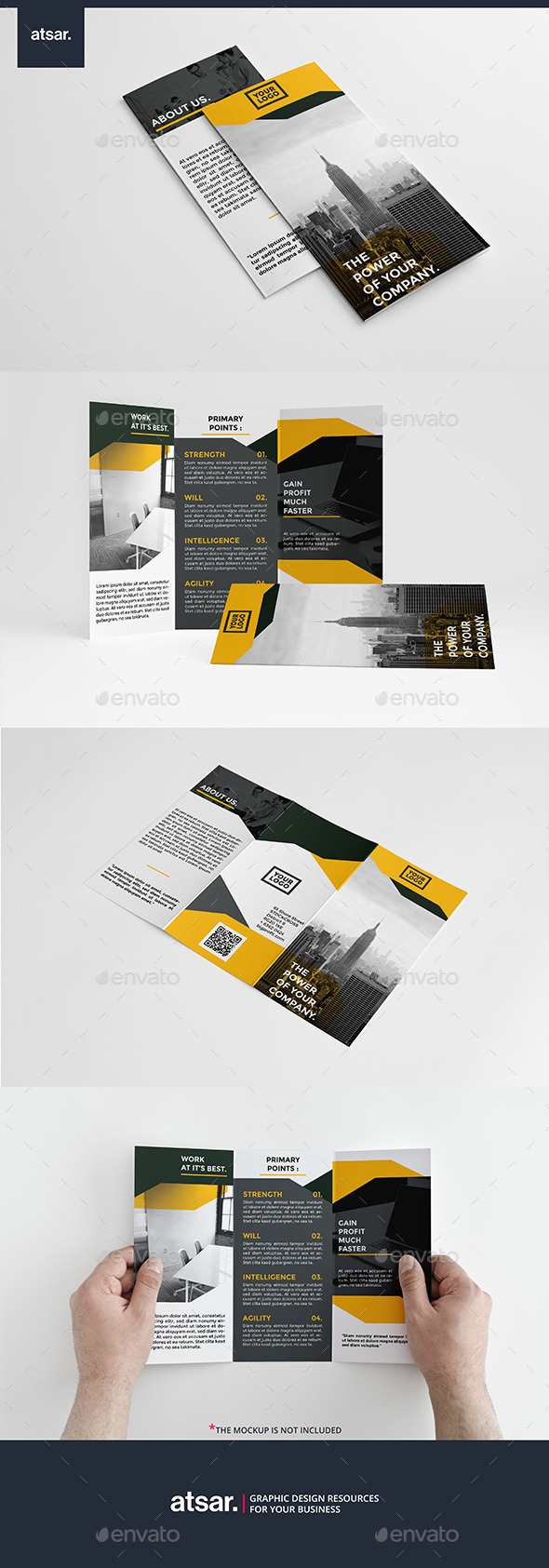 Yellow Modern Trifod - Corporate Brochures
