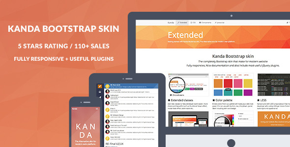 Kanda Bootstrap skin - CodeCanyon Item for Sale