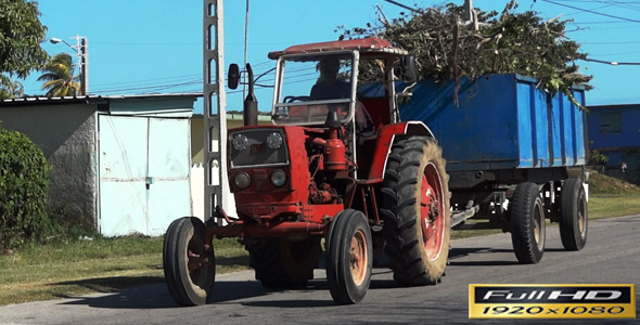 Farm Tractor Passing | Full HD