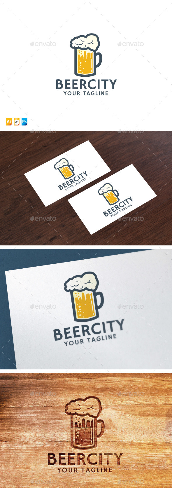 Beer City - Food Logo Templates