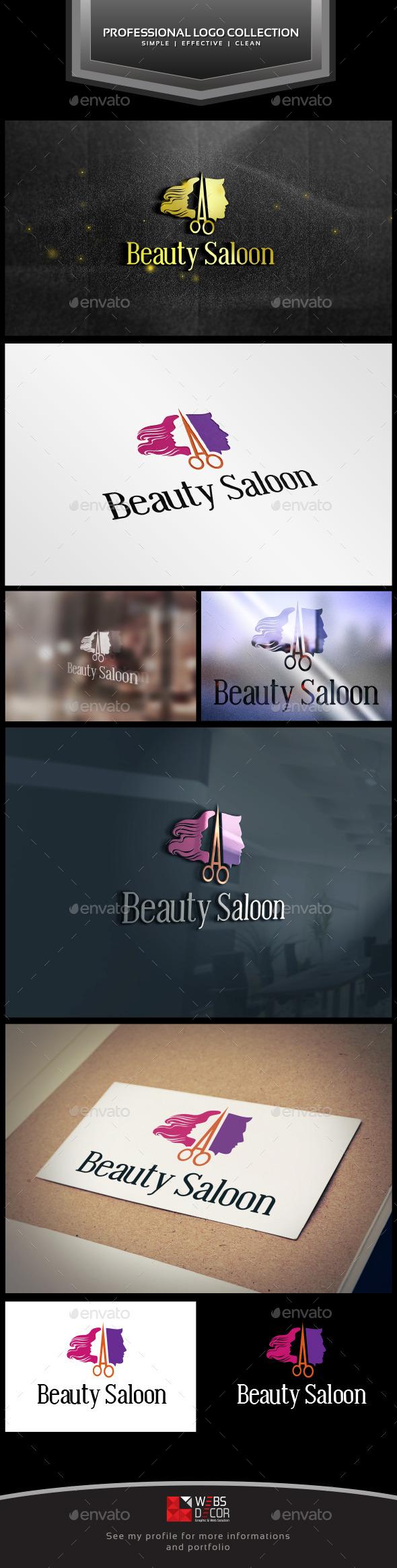 Hair Saloon - Ladies & Gents - Logo Templates