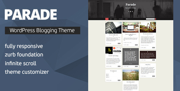 Parade - WordPress Blogging Theme