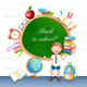 Back to School Illustration with Happy Pupil. - GraphicRiver Item for Sale