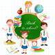 Back to School Illustration with Happy Pupils. - GraphicRiver Item for Sale