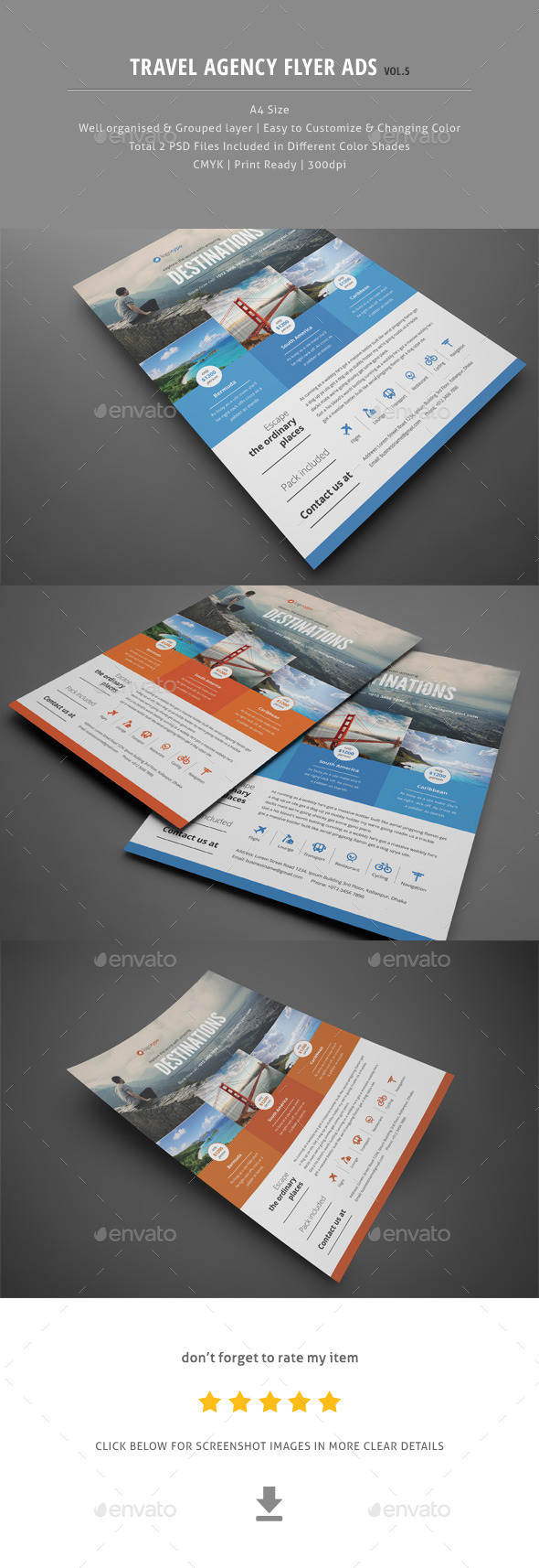 Travel Agency Flyer Ads Vol.5 - Corporate Flyers
