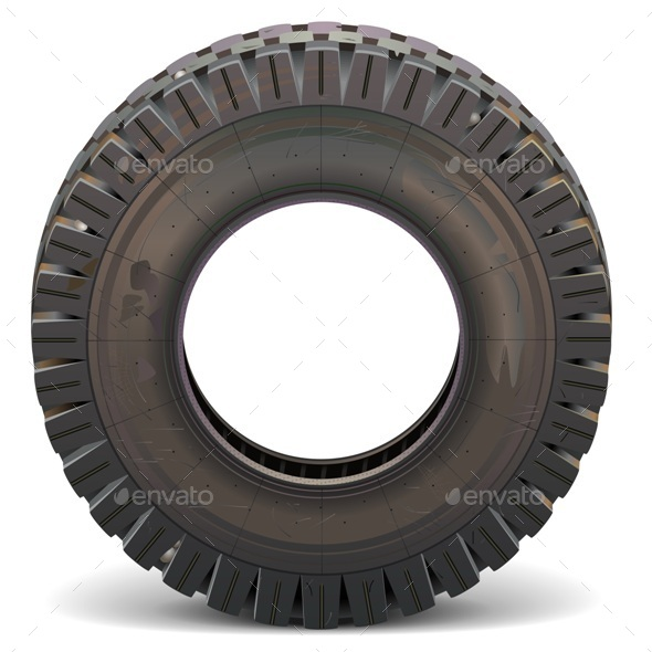 Vector Old Truck Tire - Industries Business