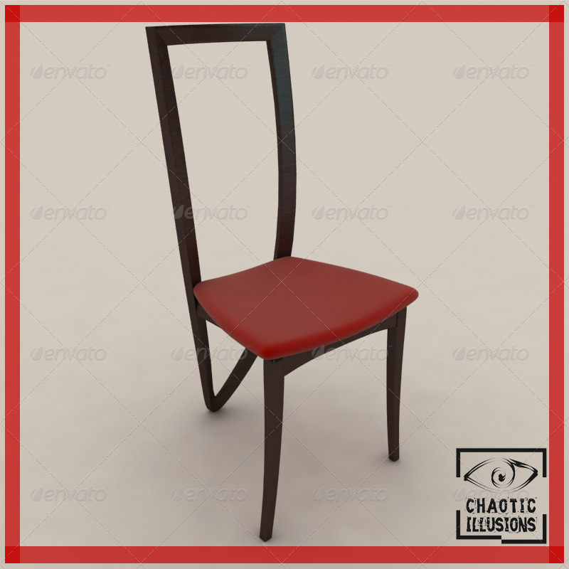 3 legged dining chair - 3DOcean Item for Sale