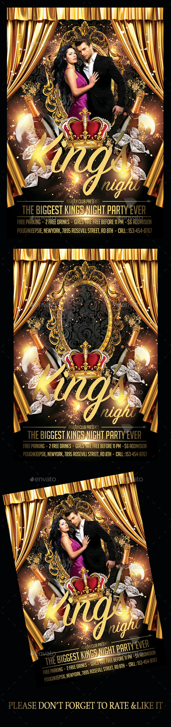 Kings Night Flyer - Flyers Print Templates