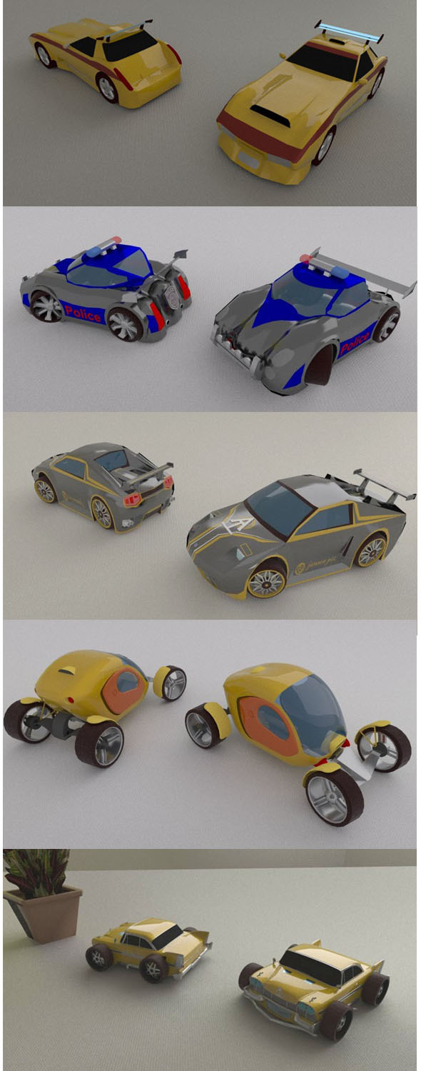 plastic toy car package - 3DOcean Item for Sale