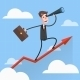 Businessman Flies Over Growing Chart - GraphicRiver Item for Sale