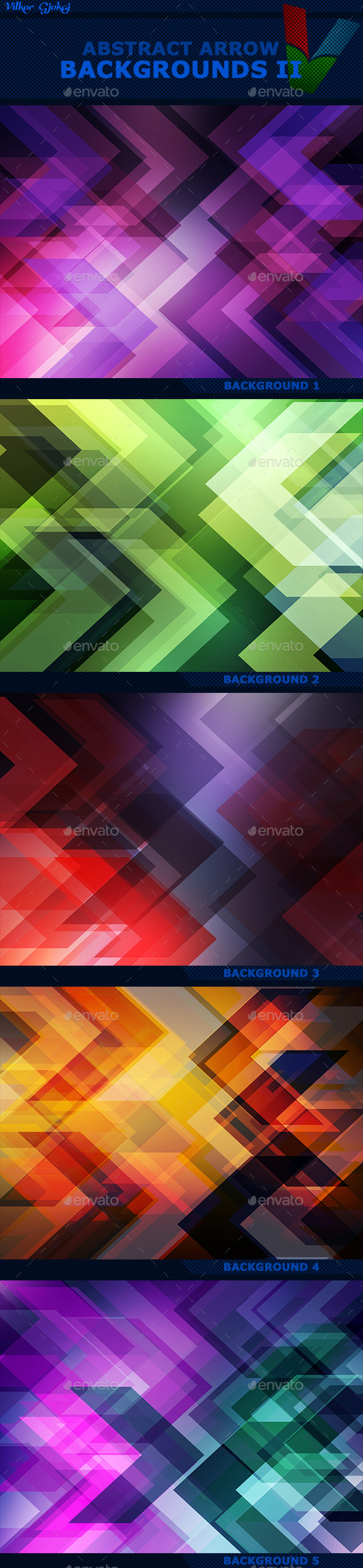 Abstract Arrow Backgrounds II - Abstract Backgrounds