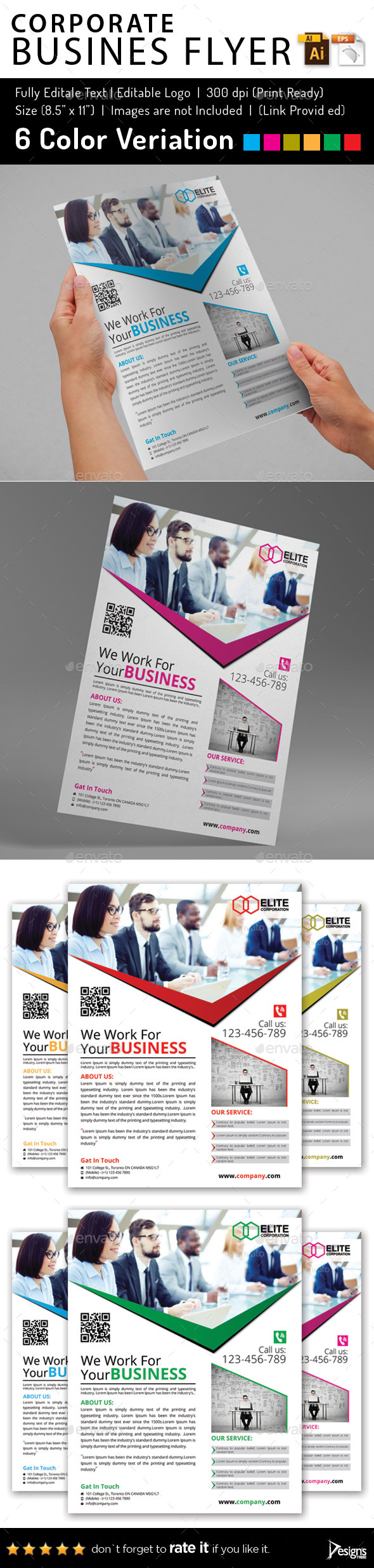 Multipurpose Business Flyer 52 - Flyers Print Templates
