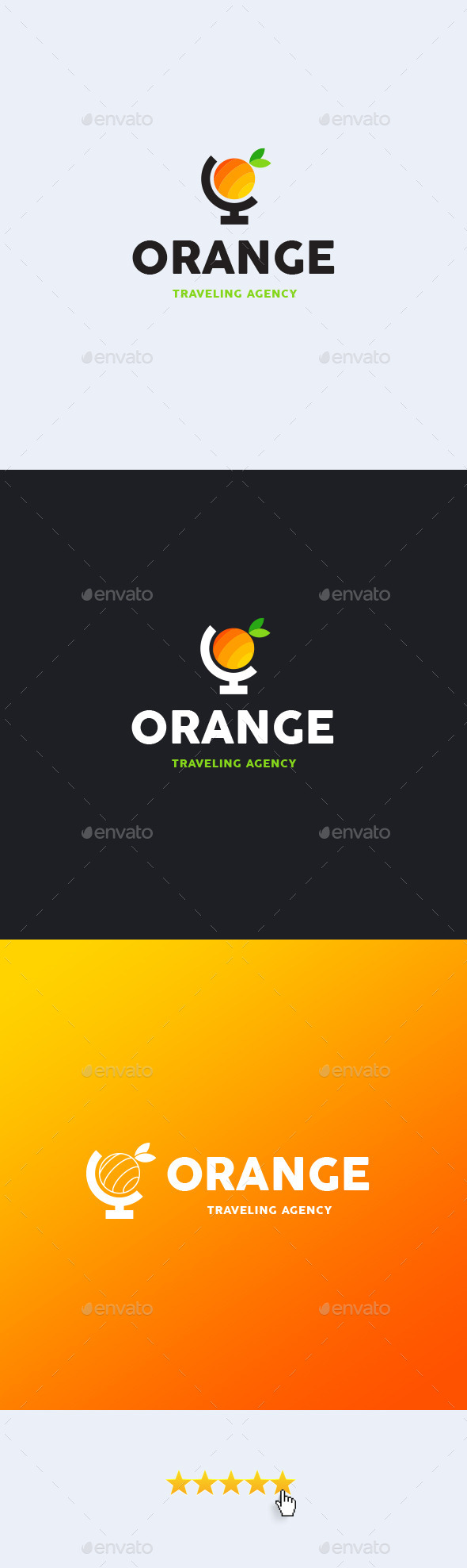 Orange Travel Logo Template - Objects Logo Templates