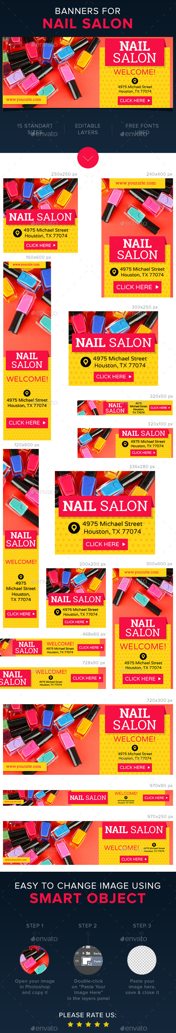 Nail Salon Banners