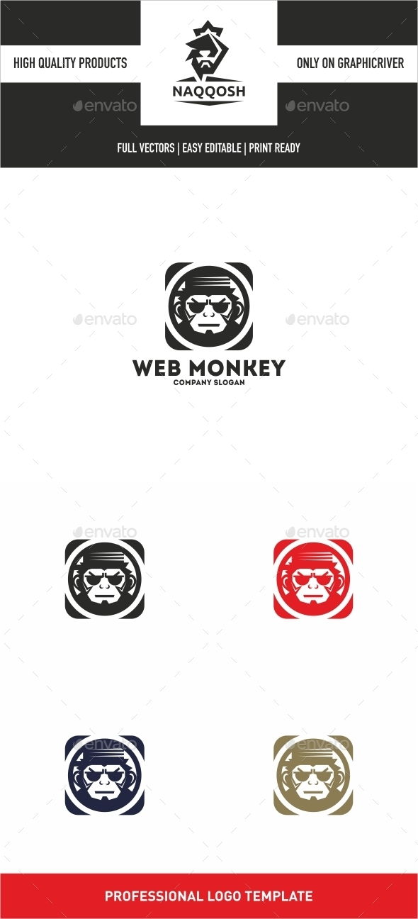 Web Monkey - Symbols Logo Templates