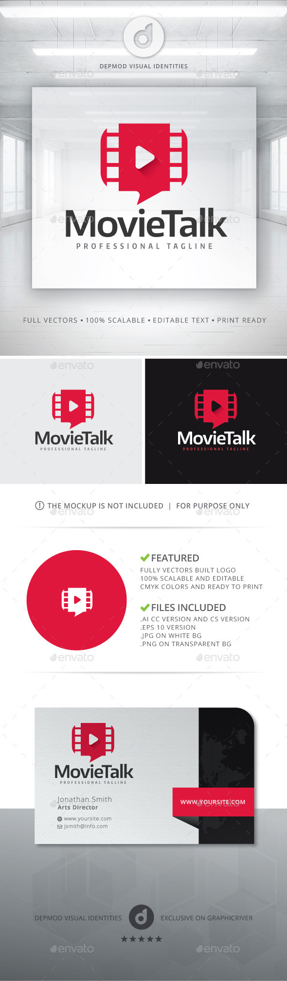 Movie Talk Logo - Symbols Logo Templates