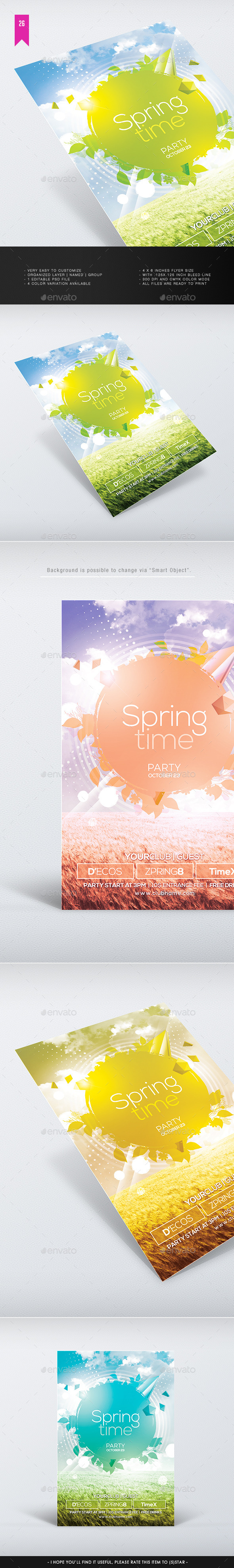 Spring Time V.2 - Flyer Template - Clubs & Parties Events