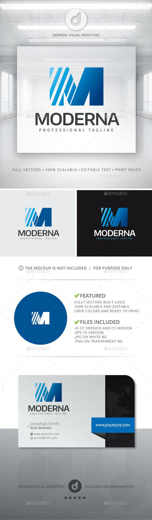 Moderna Logo - Letters Logo Templates