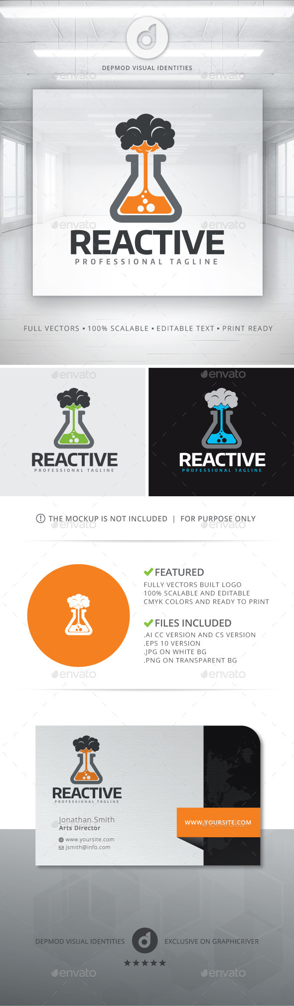 Reactive Logo - Objects Logo Templates