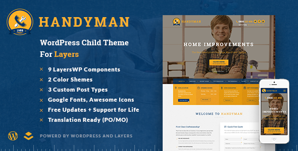 Handyman – Craftsman Business WordPress Theme