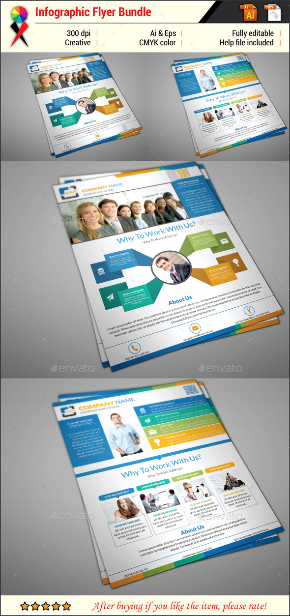 Infographic Flyer Bundle - Corporate Flyers