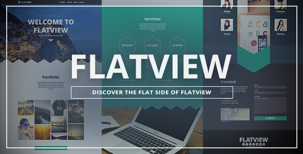 Flatview - One Page Muse Template - Creative Muse Templates