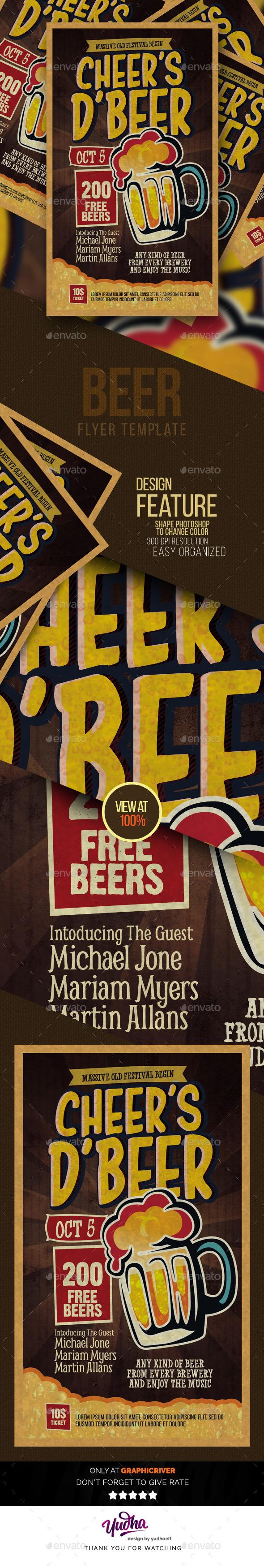 Beer Flyer - Clubs & Parties Events