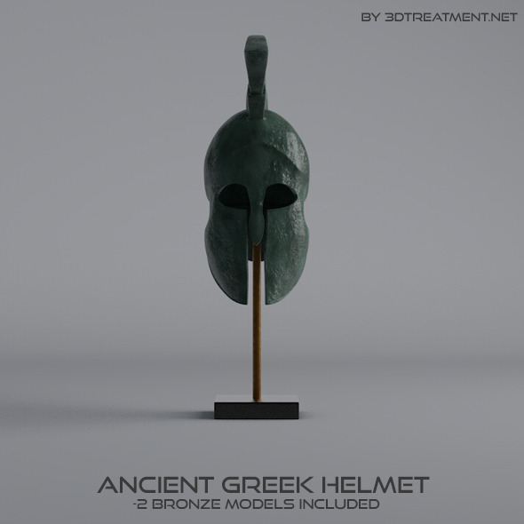 Ancient Greek Helmet - 3DOcean Item for Sale
