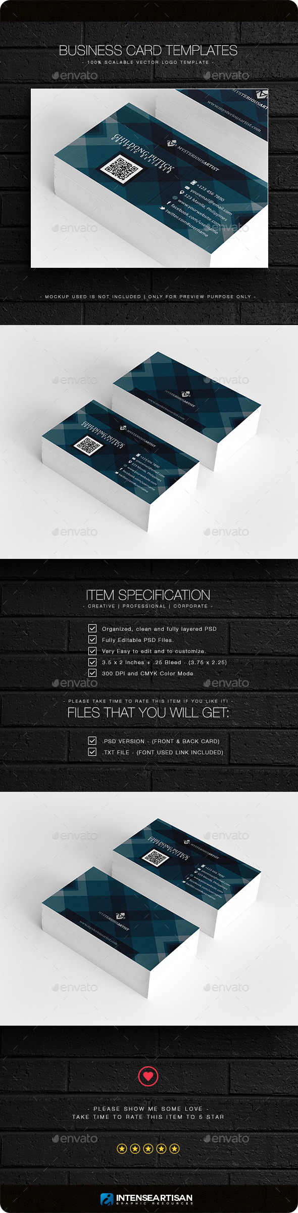 Business Card V.4 - Business Cards Print Templates