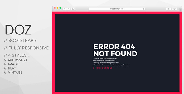 DOZ – Creative 404 Pages