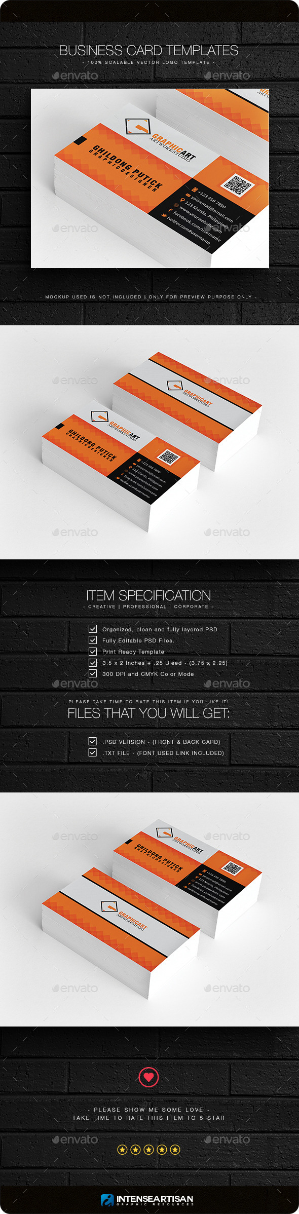 Business Card V.5 - Business Cards Print Templates