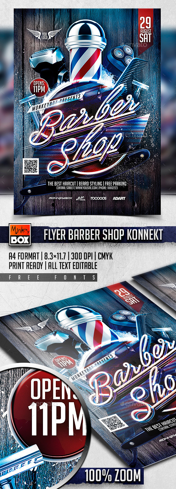 Flyer Barber Shop Konnekt - Events Flyers