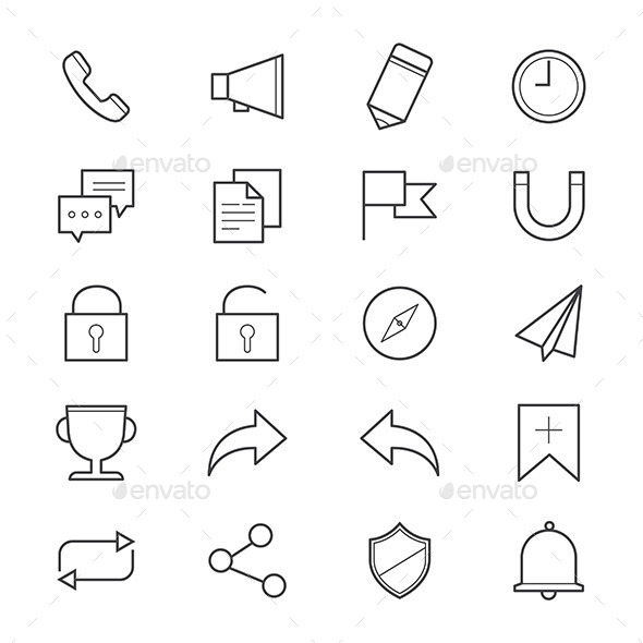 Internet and Website Icons Line - Web Icons