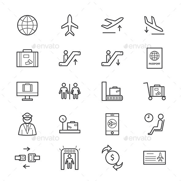 Airport Icons Line - Icons
