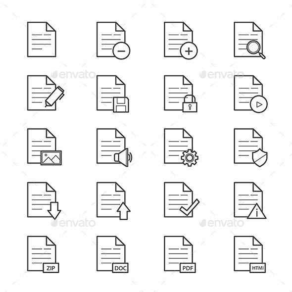 Document Icons Line - Icons