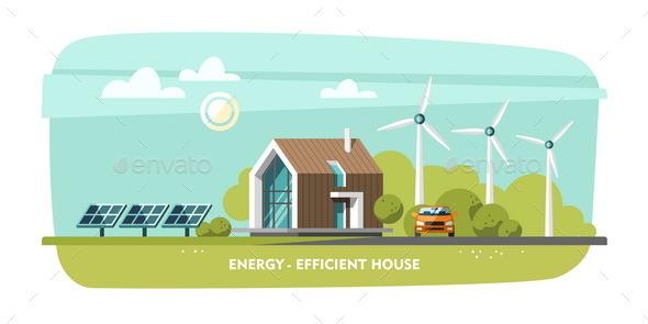 Energy-Efficient House - Landscapes Nature