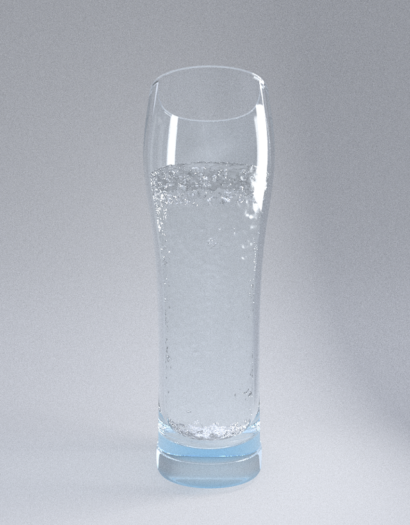 Clean glass water - 3DOcean Item for Sale