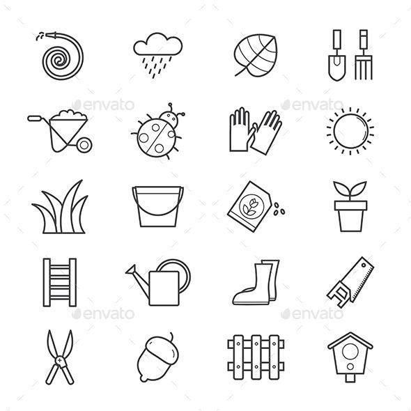 Garden Icons Line - Icons
