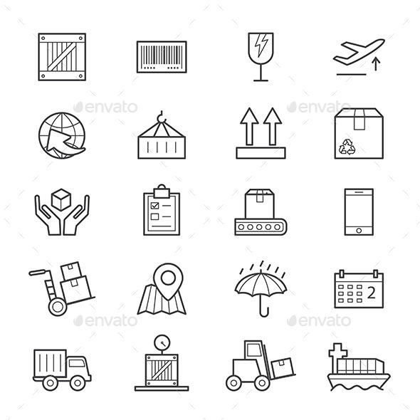 Logistics Icons Line - Business Icons