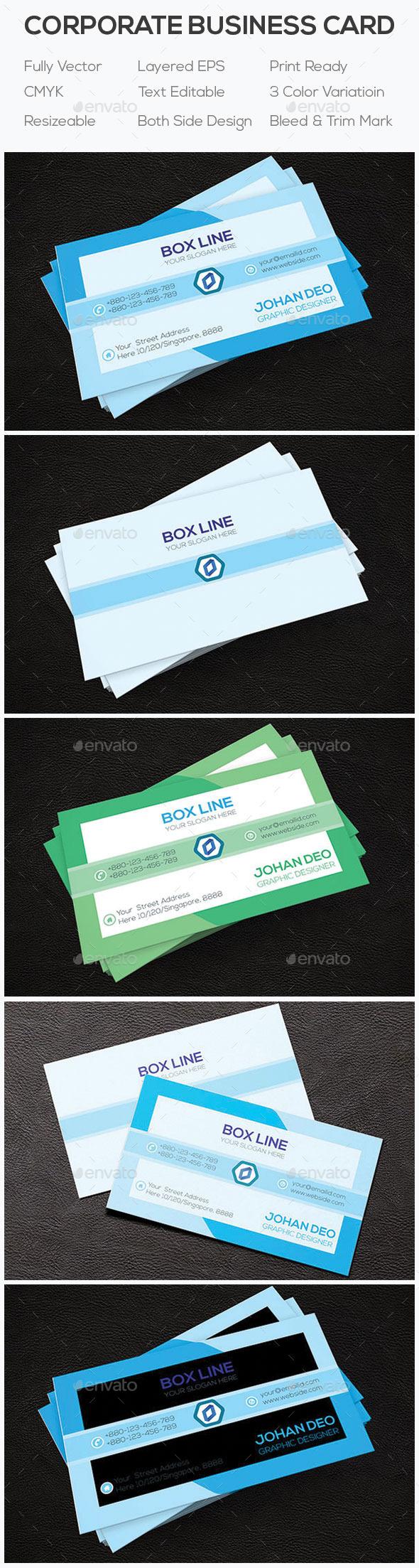 Corporate Business Card SDP-02 - Corporate Business Cards