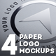 4 Realistic Paper Logo Mockups - GraphicRiver Item for Sale
