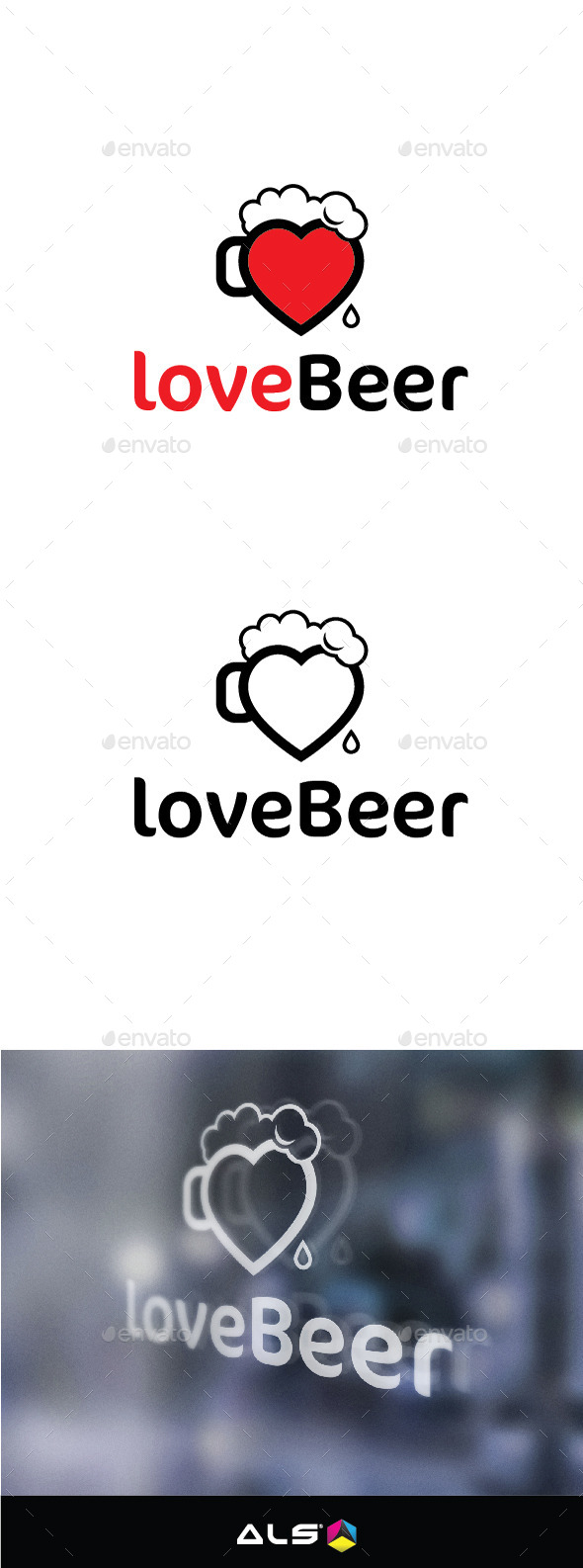 Love beer - Food Logo Templates