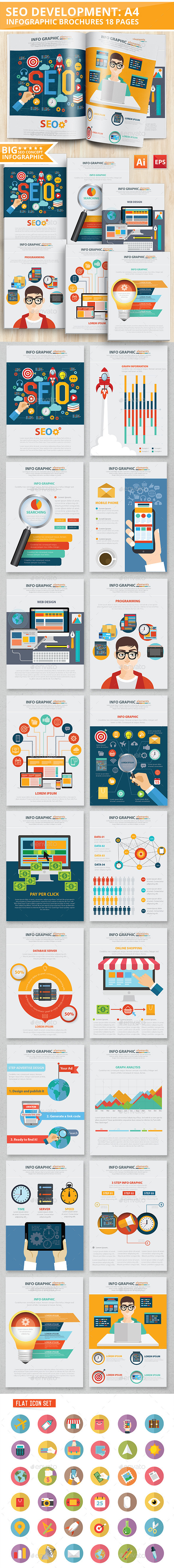 SEO Development Infographic Design 18 Pages - Infographics