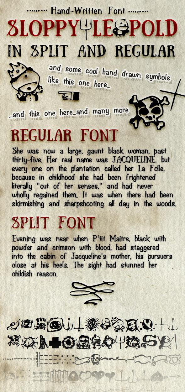 Hand Written Font Sloppy Leopold