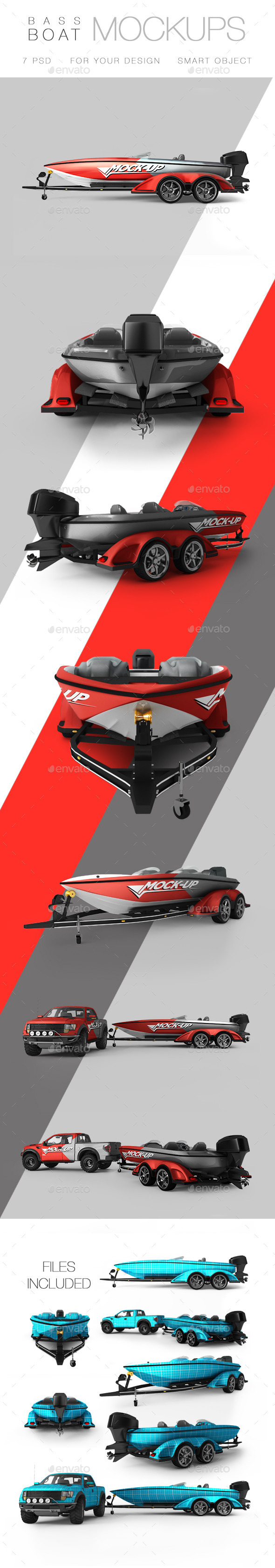 Bass Boat Mock-up - Product Mock-Ups Graphics