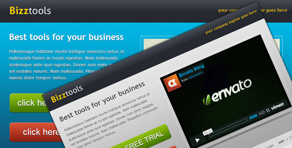 Bizztools – Business Landing Page