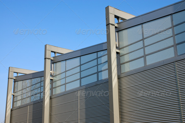 Facade of a factory building - Stock Photo - Images